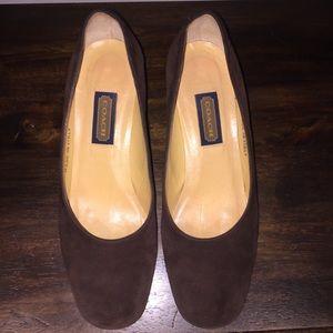 Coach Block Heels, Round Toe, Leather upper